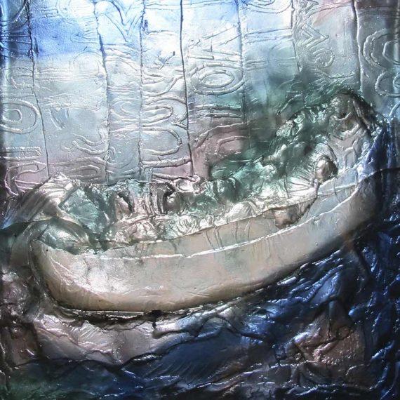Sculpture en pâte de verre pour Françoise Bissara Olivier Juteau Maître Verrier