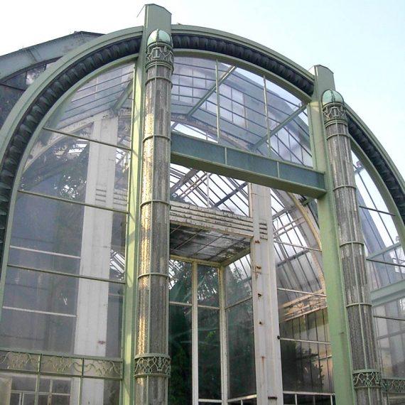 Création des lames en verre taillé à la main de la Serre du Jardin des Plantes Olivier Juteau Maitre Verrier Paris