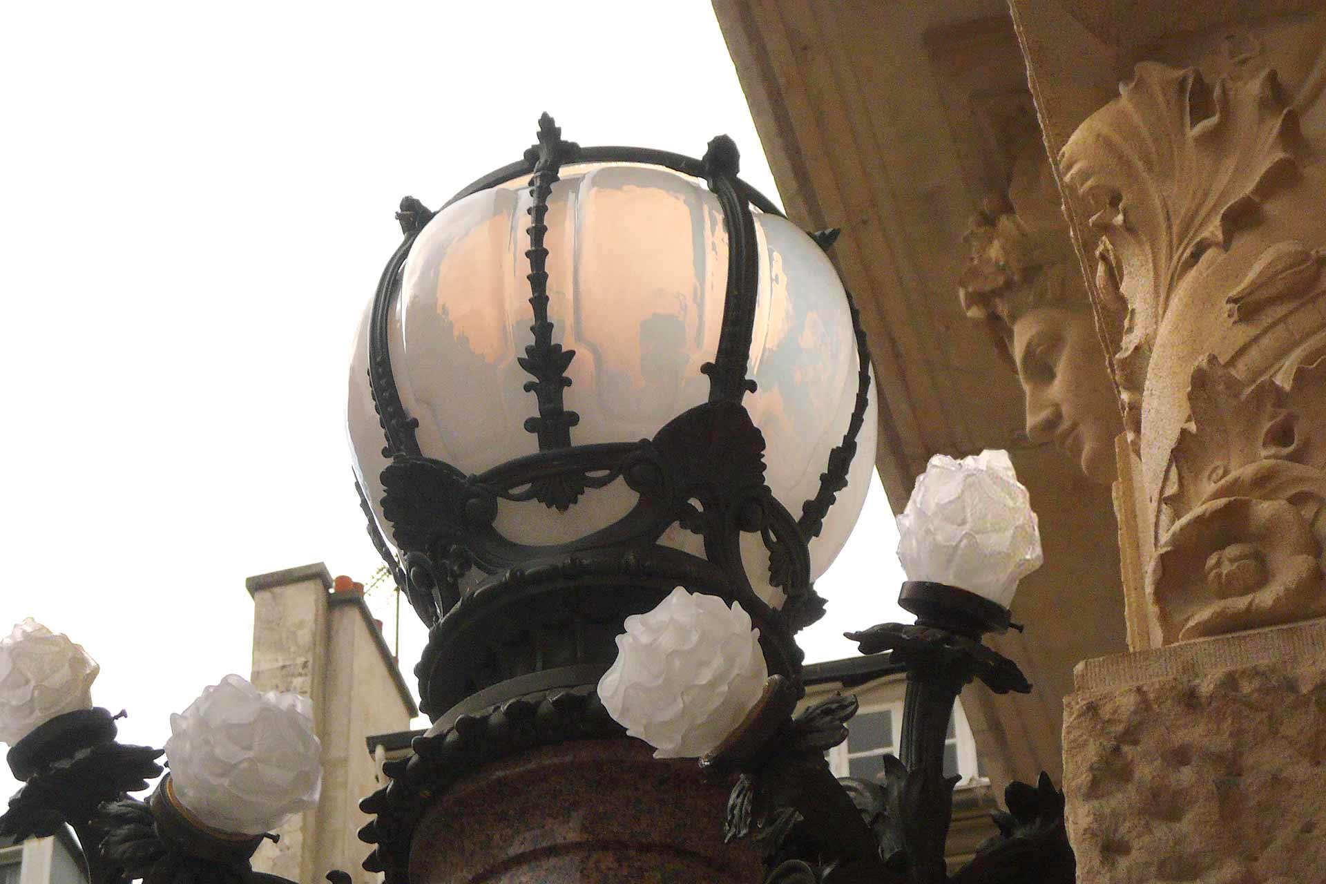 Candélabres en verre soufflé de l'Opéra Comique de Paris