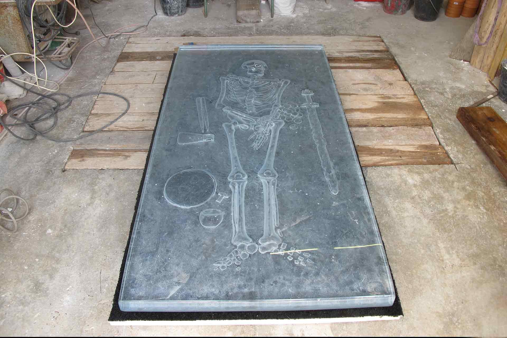 Sculpture en verre pour Jean Divry Olivier Juteau Maître Verrier