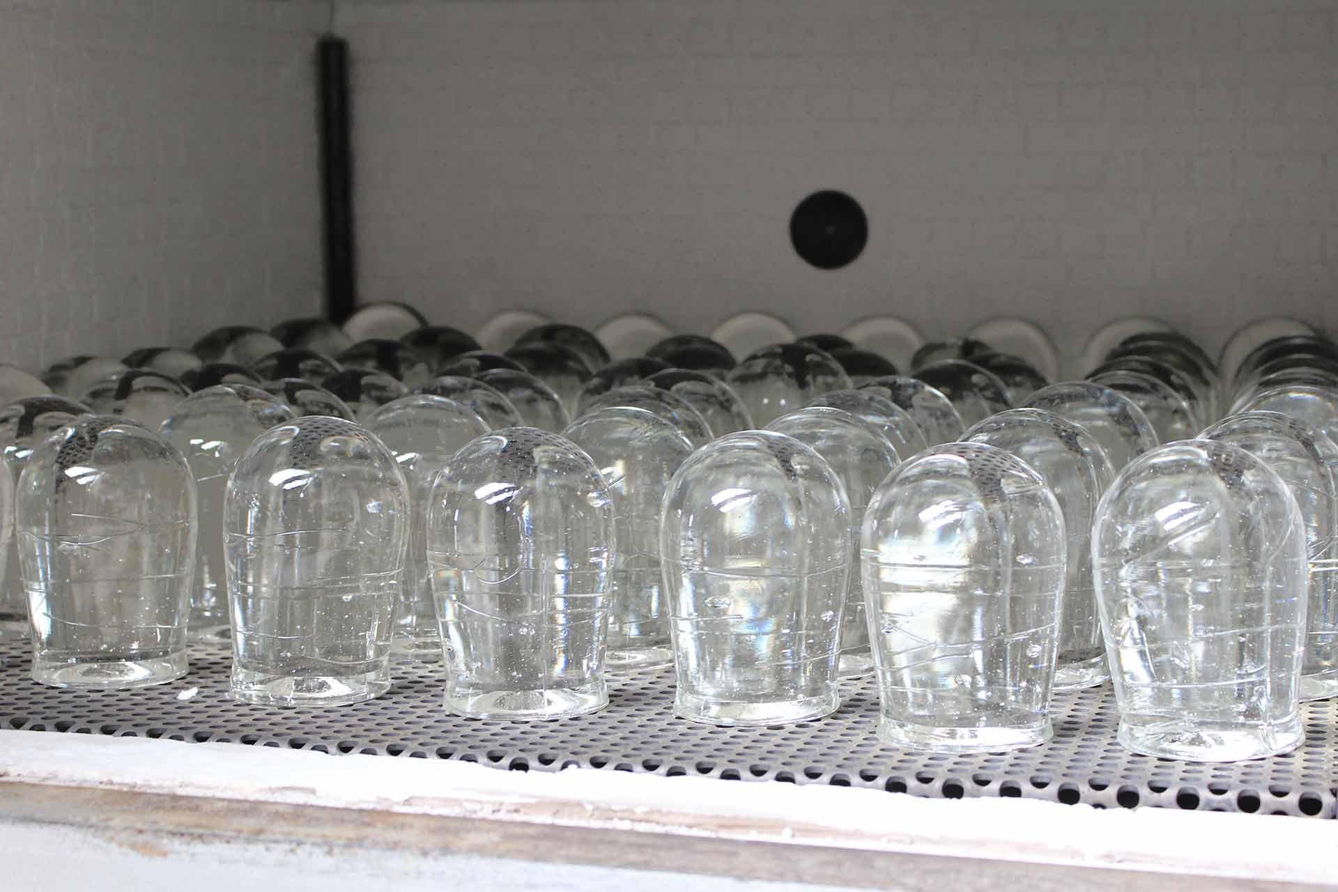 Pavé de verre diffuseurs de lumière Usine BIOSAV Olivier Juteau Maitre Verrier