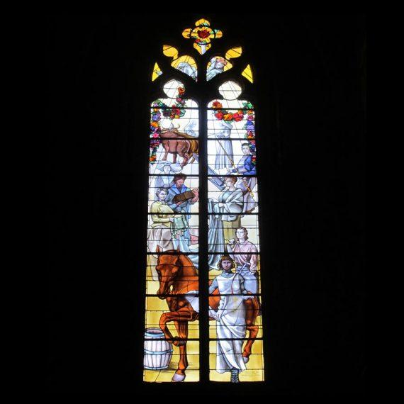 Création de Vitraux cathédrake de Rodez Maitre Vitrailliste Olivier Juteau