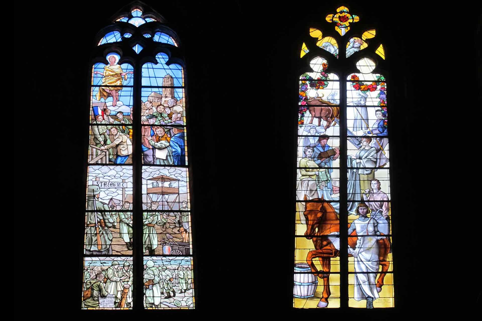 Création de deux vitraux pour la cathédrale de Rodez par Olivier Juteau Maitre Vitrailliste