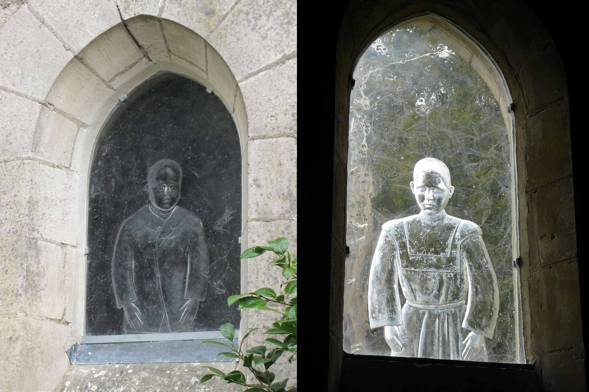 Réalisation de vitraux pour l'Abbatiale de Saint-Gildas-des-Bois par le Maître Verrier Olivier Juteau